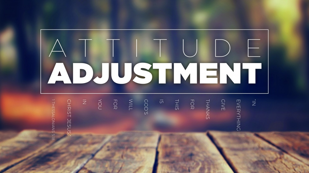 An Attitude  Adjustment